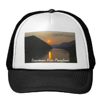 Sunset over Susquehanna River Pennsylvania Hat