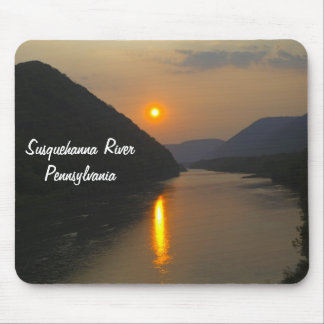 Sunset over Susquehanna River Pennsylvania Mouse Pad