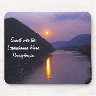 Sunset over Susquehanna River Pennsylvania Mouse Pad