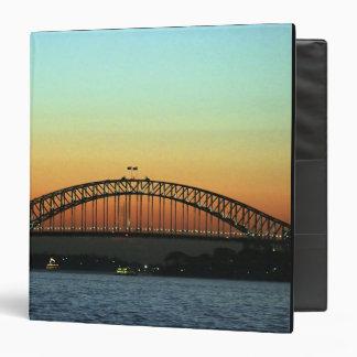 Sunset over Sydney Harbor Bridge, Australia 3 Ring Binder
