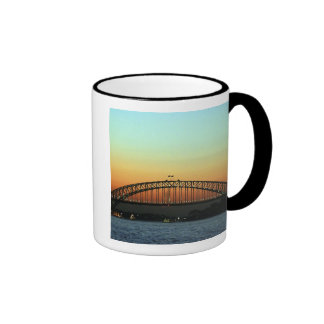 Sunset over Sydney Harbor Bridge, Australia Ringer Mug