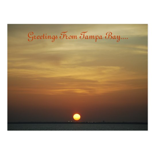 Sunset Over Tampa Bay Post Card