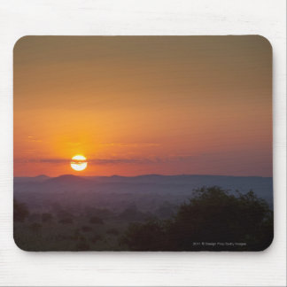 Sunset Over The African Landscape Mouse Pad