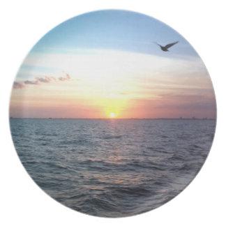Sunset over the Atlantic Dinner Plate