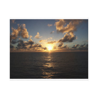 Sunset over the Atlantic from a Cruise Wrap Canvas Print