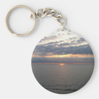 Sunset over the Baltic Basic Round Button Keychain