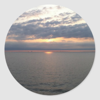 Sunset over the Baltic Classic Round Sticker