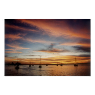 Sunset over the Bay of La Paz Poster
