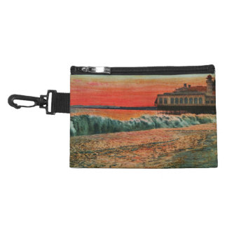 Sunset over the beach at Nice France Accessory Bags