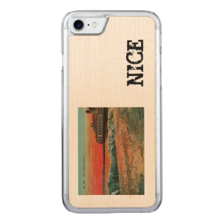 Sunset over the beach at Nice France Carved iPhone 7 Case