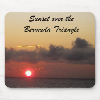 Sunset over the Bermuda Triangle Mouse Pad