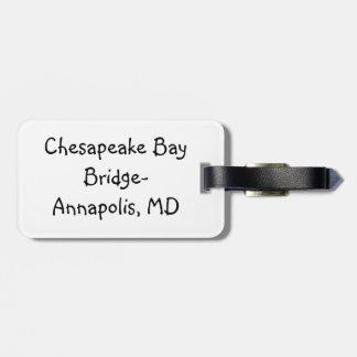 Sunset over the Chesapeake Bay Bridge Luggage Tag