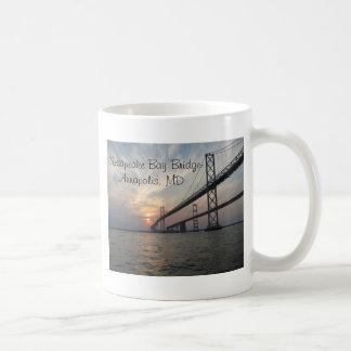 Sunset over the Chesapeake Bay Bridge Classic White Coffee Mug
