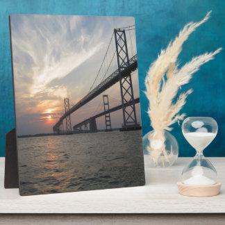 Sunset over the Chesapeake Bay Bridge Plaque