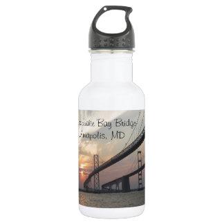 Sunset over the Chesapeake Bay Bridge Water Bottle