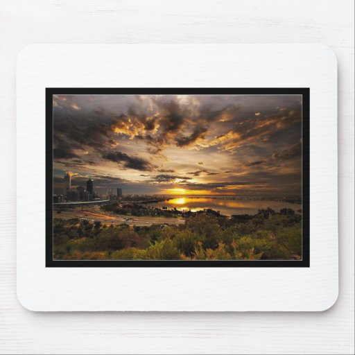 Sunset over the City Mouse Pad