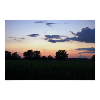 Sunset over the cornfield 3 By Peeka Posters