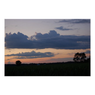 Sunset over the cornfield 4 By Peeka Poster