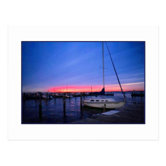 'Sunset Over the Docks'  Postcard