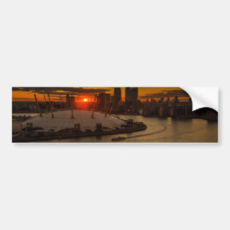 Sunset Over the Dome Bumper Sticker