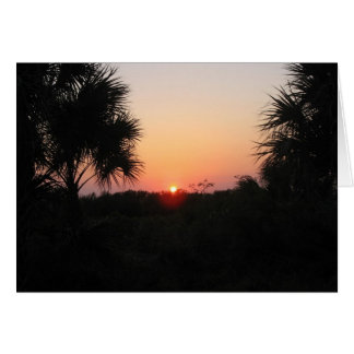 Sunset over the Dunes, Marco Island, Florida, 2010 Card