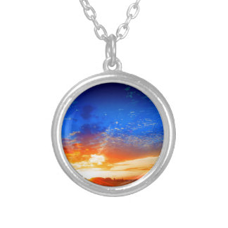 Sunset over the English countryside. Pendants