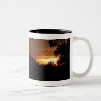 Sunset Over the Farm mug