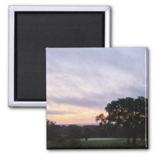 Sunset Over the Golf Course Magnet