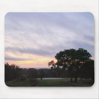 Sunset Over the Golf Course Mouse Pad