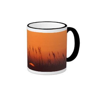 Sunset over the gulf ringer coffee mug