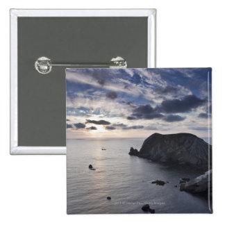 Sunset Over The Irish Coastline Pinback Button