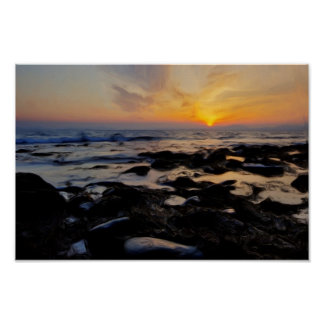 Sunset over the Lleyn Peninsular Poster
