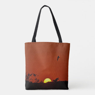 Sunset Over The Marsh Tote Bag