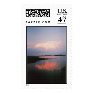 Sunset over the Marshes of Glynn, GA Postage