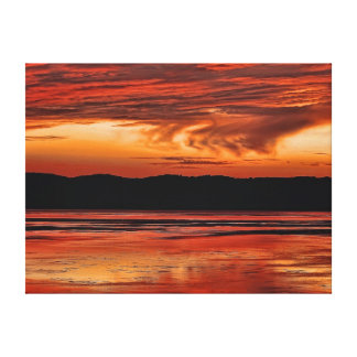 Sunset Over the Mississippi Stretched Canvas Prints