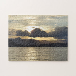 Sunset Over The Mountains Puzzle
