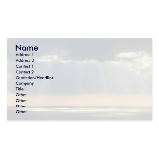 Sunset over the ocean business card template
