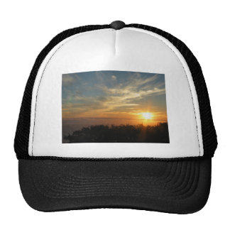 Sunset Over The Ocean From Nepenthe Resturant Trucker Hat