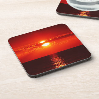 Sunset Over the Ocean Photo Coaster