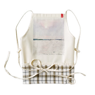 Sunset over the ocean zazzle HEART apron