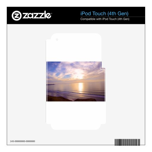 Sunset over the Pacific iPod Touch 4G Skins