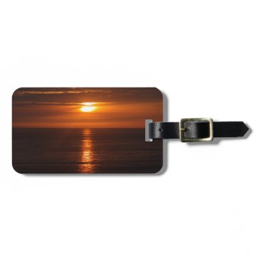 Beach Themed Sunset Over the Pacific Luggage Tag