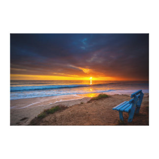 Sunset over the Pacific Ocean Canvas Print