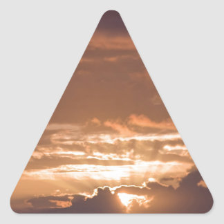 Sunset Over the Pacific Triangle Sticker