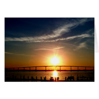 Sunset over the Patuxent River, Solomons Island Card