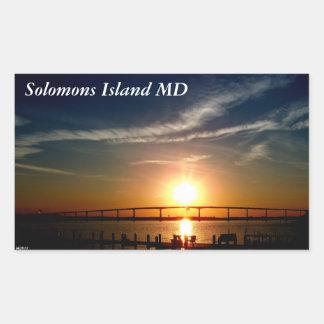 Sunset over the Patuxent River, Solomons Island Rectangular Sticker