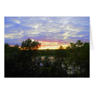 Sunset Over The Pond Card