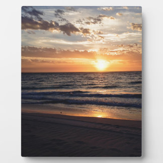 Sunset Over the Pristine beach in Jurien bay Plaques