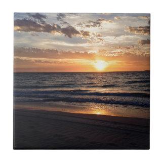 Sunset Over the Pristine beach in Jurien bay Ceramic Tile