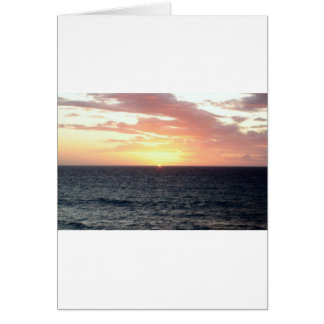Sunset Over the Sea Card